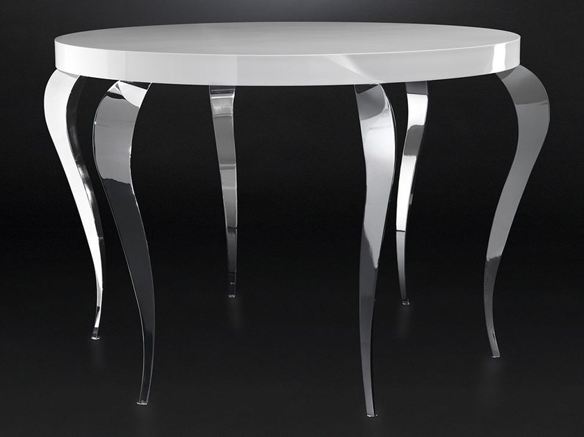 Lacquered round steel living room table LUIGI | High table by VGnewtrend