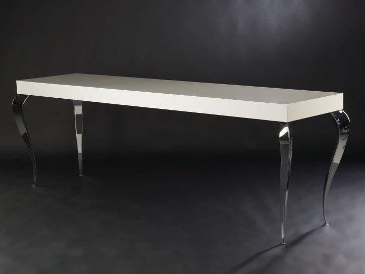 Lacquered rectangular MDF console table LUIGI | Lacquered console table - VGnewtrend