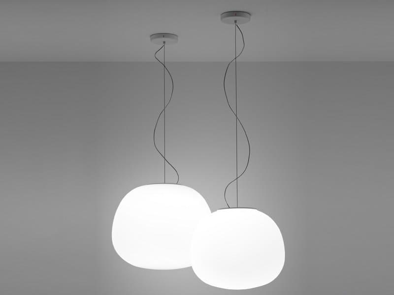 Blown glass pendant lamp LUMI MOCHI   Pendant lamp - Fabbian