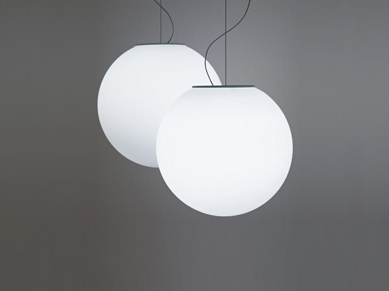 Glass pendant lamp LUMI SFERA | Pendant lamp - Fabbian
