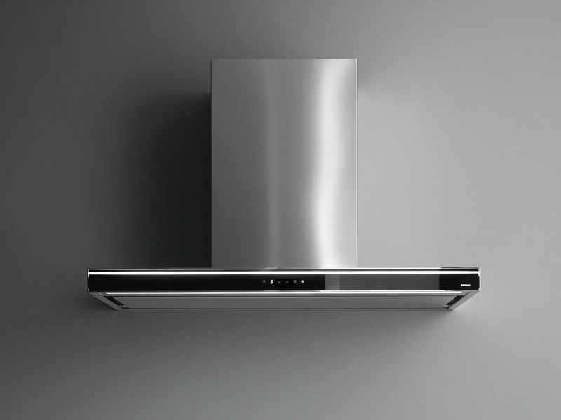Stainless steel island hood with activated carbon filters LUMINA NRS - Falmec