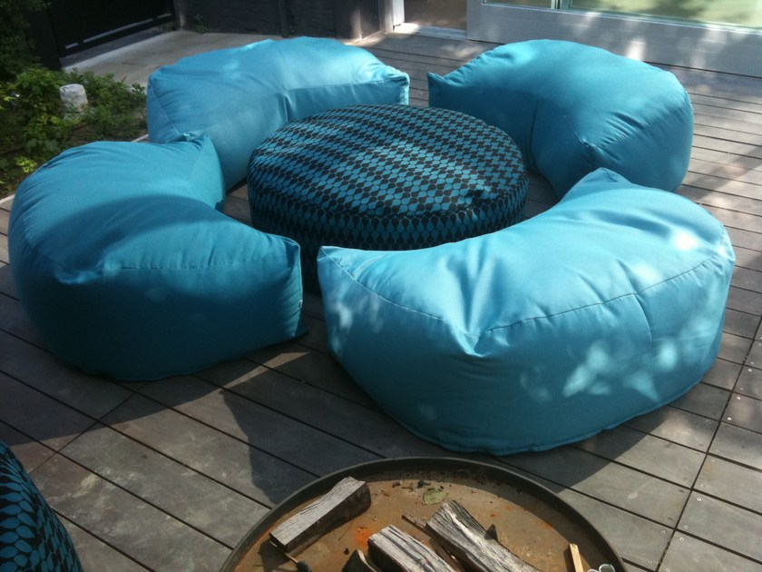 Fabric armchair / pouf LUNA - Be Different