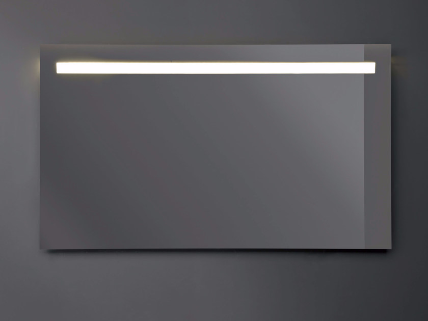 Rectangular wall-mounted mirror with integrated lighting LUNAR by Nic Design