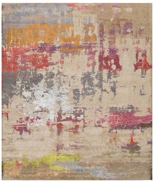 Handmade rectangular rug LUND CARLAHEM - HENZEL STUDIO
