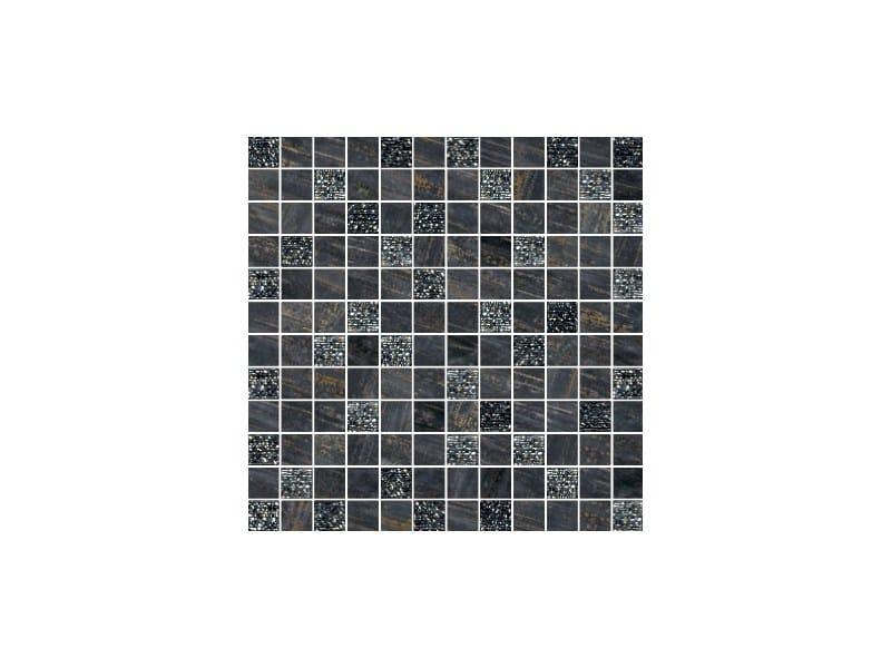 Porcelain stoneware mosaic LUX NERO - CERAMICHE BRENNERO