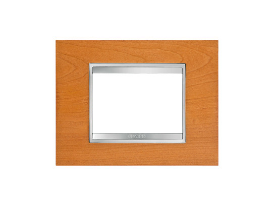 Cherry wood wall plate LUX | Cherry wood wall plate - GEWISS