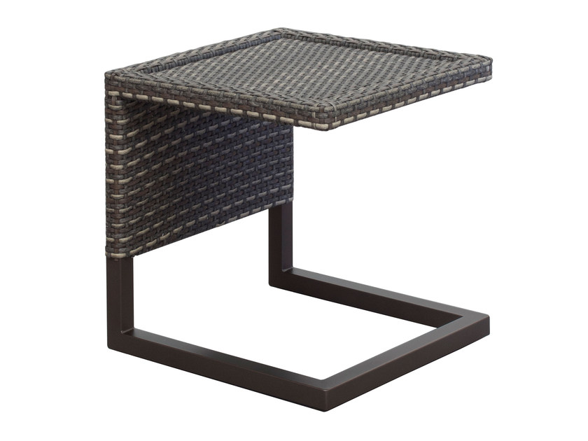 Low square garden side table LUXOR | Low coffee table - EMU Group S.p.A.
