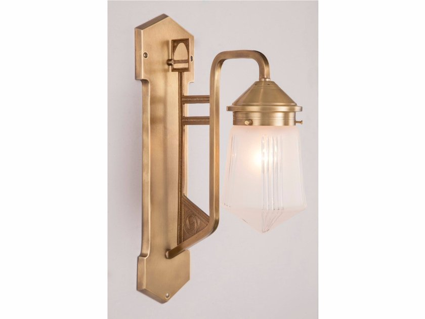 Brass wall lamp LUZERN I | Wall lamp - Patinas Lighting
