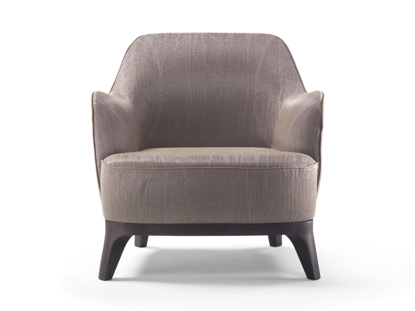 Upholstered armchair with armrests LYSANDRE - FLEXFORM