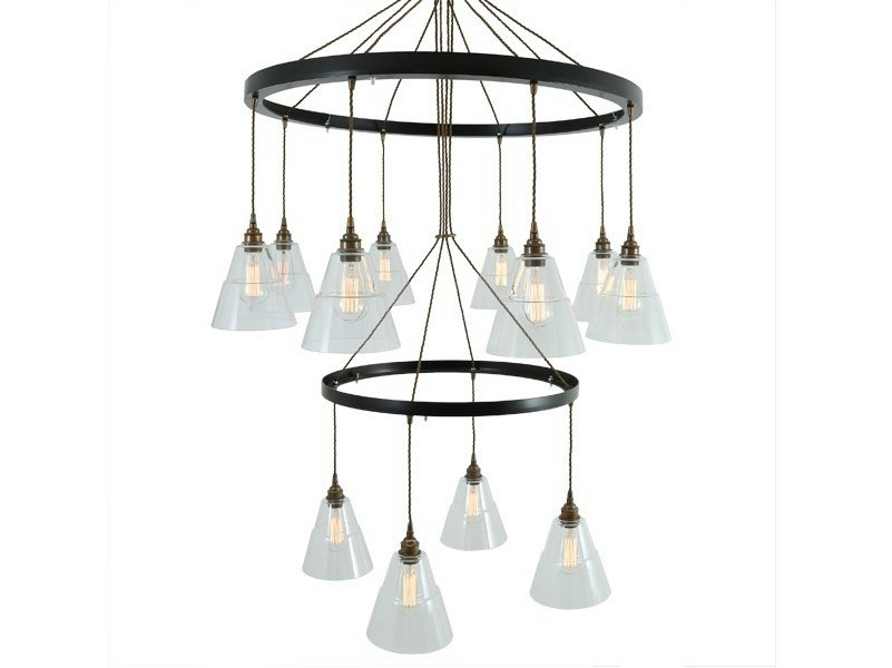 Handmade pendant lamp LYX 2 TIER CHANDELIER - Mullan Lighting