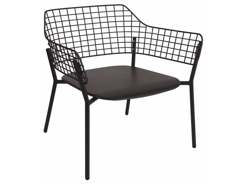 Stainless steel garden armchair with armrests LYZE | Easy chair by emu