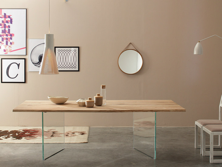 Rectangular solid wood table TWINS - Devina Nais