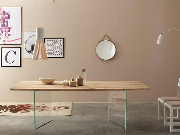 Tavolo rettangolare in legno massello TWINS - Devina Nais