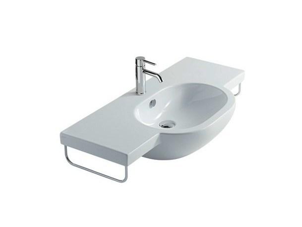 Wall-mounted ceramic washbasin M2 - 100 CM | Washbasin - GALASSIA