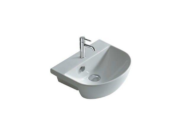 Semi-inset ceramic washbasin M2 - 35 CM | Washbasin - GALASSIA