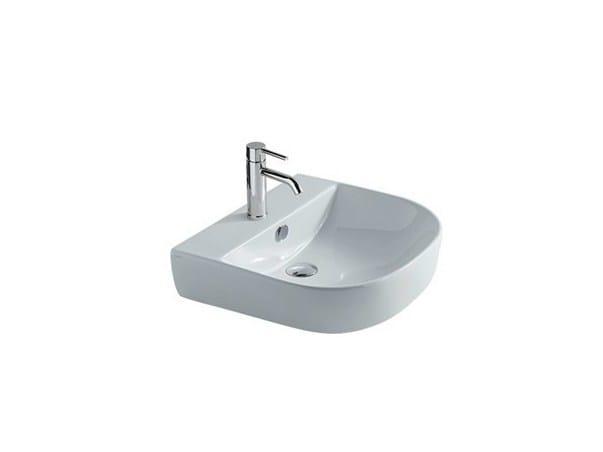 Countertop ceramic washbasin M2 - 50 CM | Countertop washbasin - GALASSIA