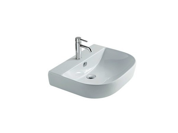 Countertop ceramic washbasin M2 - 60 CM | Countertop washbasin - GALASSIA