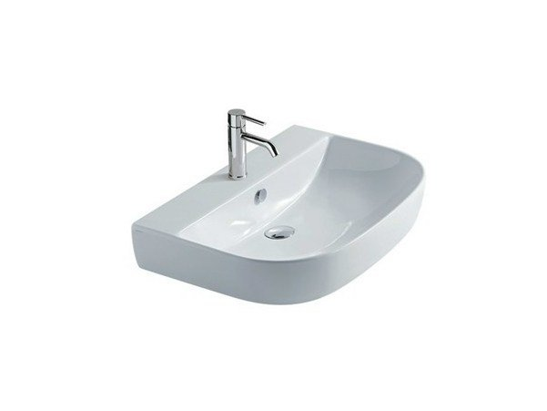 Single wall-mounted ceramic washbasin M2 - 70 CM | Washbasin - GALASSIA