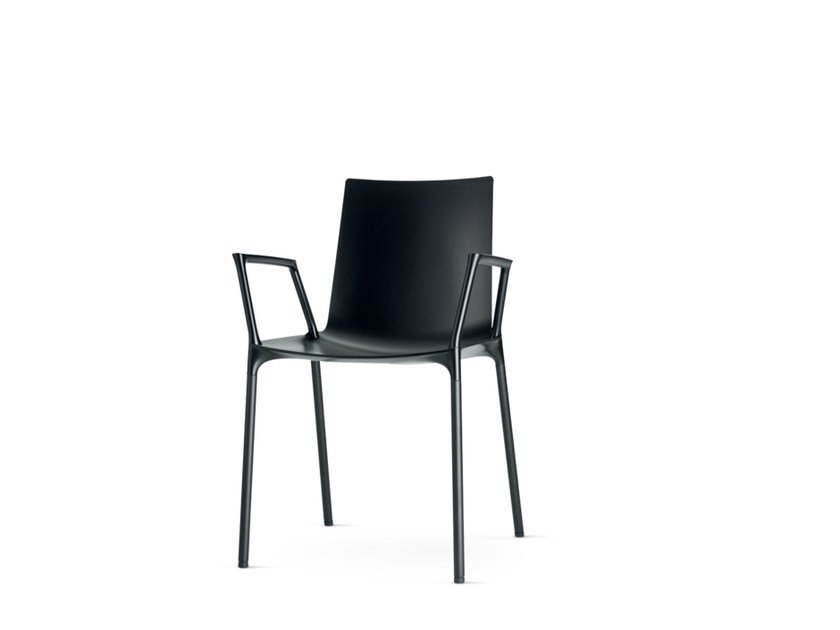 Polypropylene restaurant chair with armrests MACAO | Chair with armrests - Wiesner-Hager