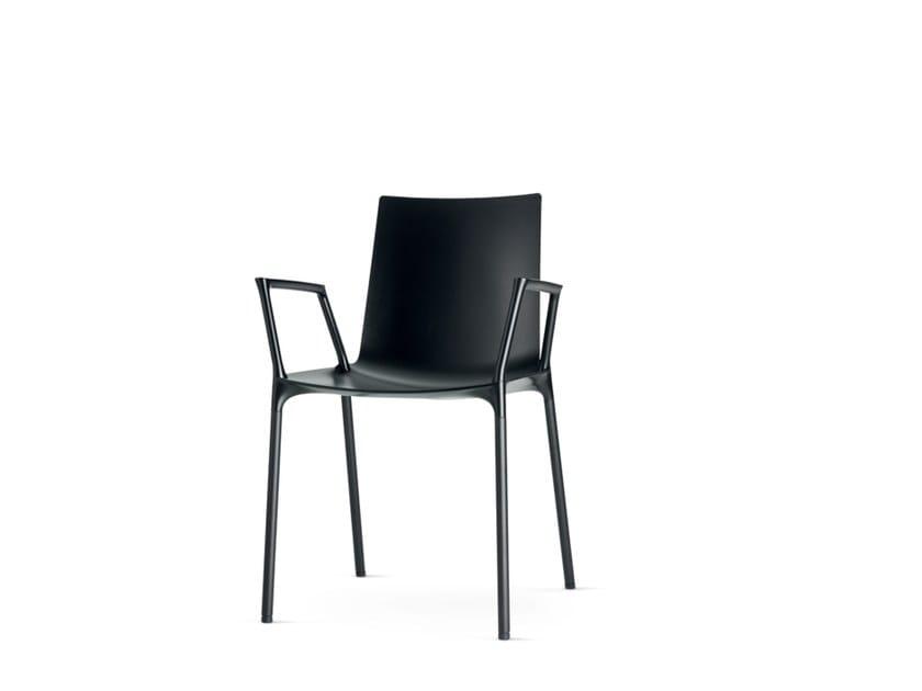 Sedia da ristorante in polipropilene con braccioli MACAO | Sedia con braccioli - Wiesner-Hager