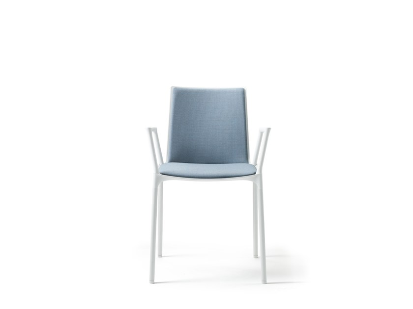 Stackable fabric restaurant chair with armrests MACAO | Fabric chair - Wiesner-Hager