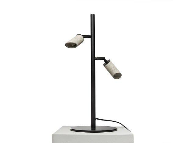 Adjustable concrete table lamp MACEO T by URBI et ORBI