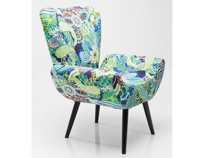 Contemporary style upholstered synthetic fibre armchair MADAGASKAR - KARE-DESIGN