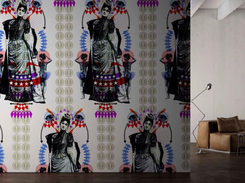 Motif washable vinyl wallpaper MADAME by GLAMORA