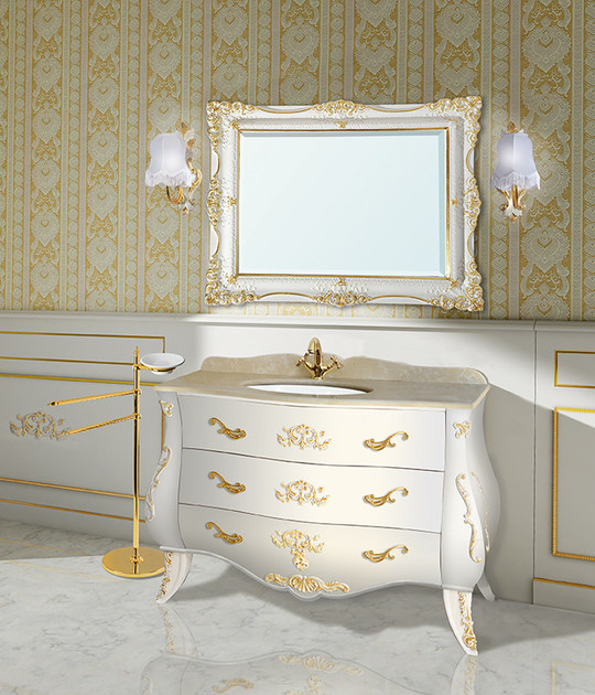 Lacquered vanity unit with drawers with mirror MADDALENA CM43DC - LA BUSSOLA
