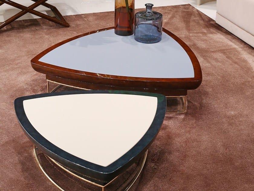 Low triangular coffee table MADISON | Triangular coffee table by Turri