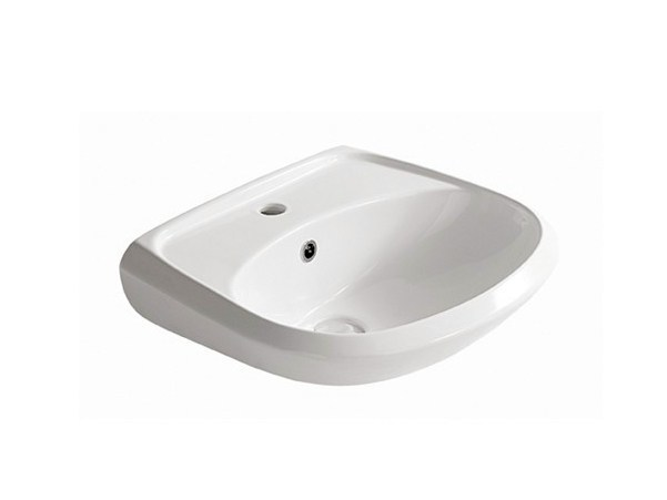 Ceramic Public washbasin MADRID - GALASSIA