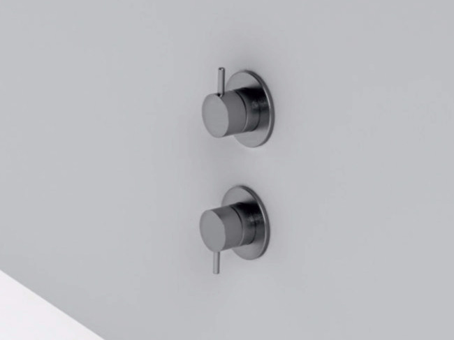 2 hole stainless steel shower mixer with diverter MAE   2 hole shower mixer by Rexa Design