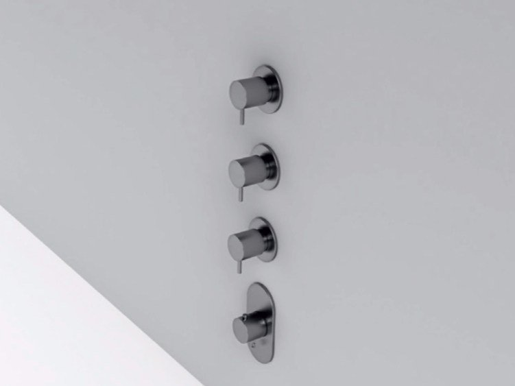 4 hole stainless steel thermostatic shower mixer MAE   4 hole thermostatic shower mixer by Rexa Design