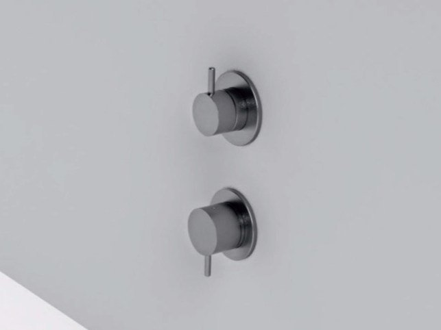 2 hole stainless steel shower mixer with diverter MAE | Shower mixer with diverter by Rexa Design