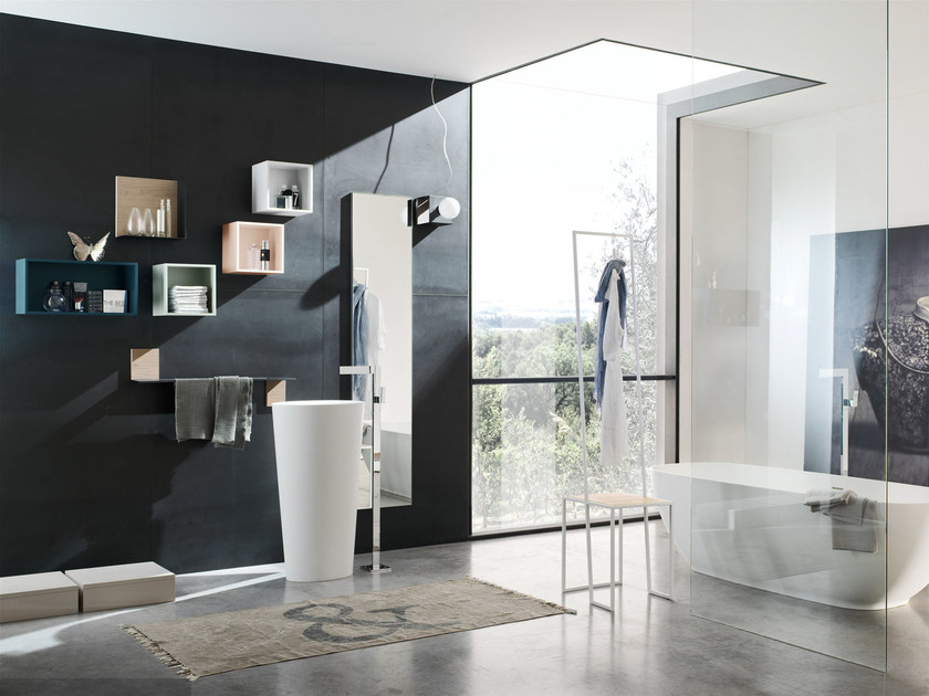 Bathroom cabinet / vanity unit MAGNETICA - COMPOSIZION 01 by Arcom