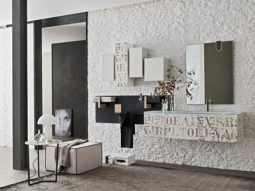 Bathroom cabinet / vanity unit MAGNETICA - COMPOSIZION 05 - Arcom