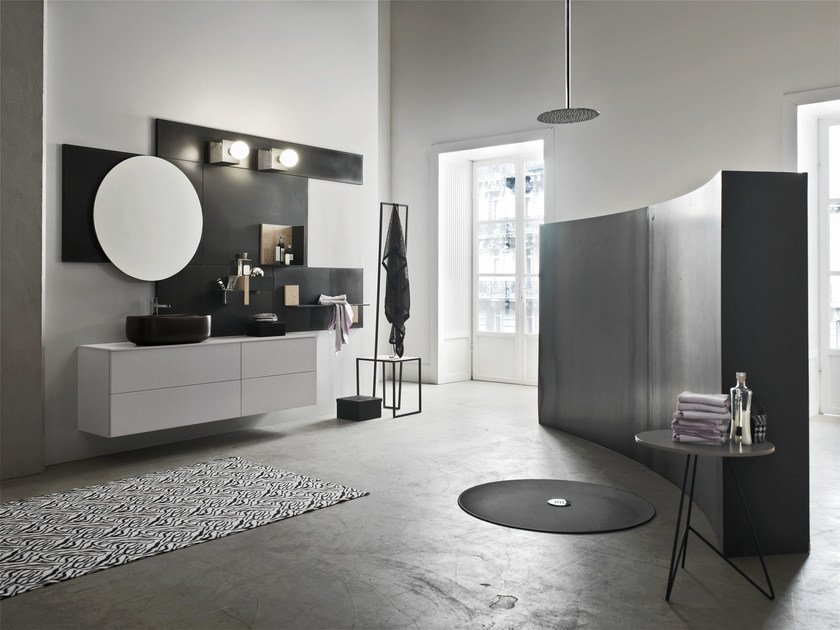 Bathroom cabinet / vanity unit MAGNETICA - COMPOSIZION 06 - Arcom