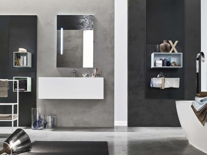 Bathroom cabinet / vanity unit MAGNETICA - COMPOSIZION 07 - Arcom