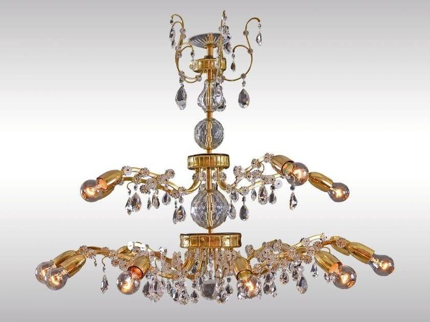 Classic style chandelier MAGNIFICENT LOBMEYR CHANDELIER 1960 - Woka Lamps Vienna