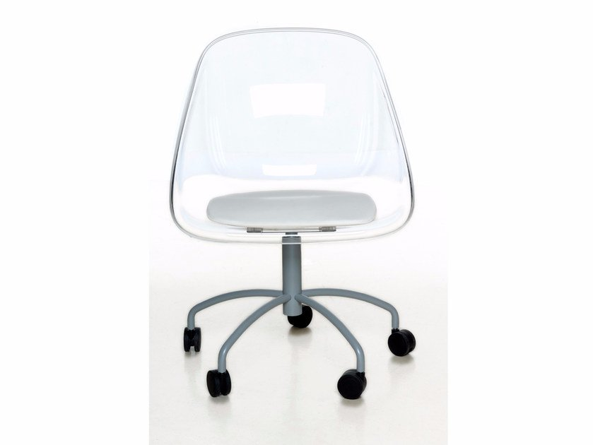 Chair with 5-spoke base with casters MAIL | Chair with casters - Paolo Castelli