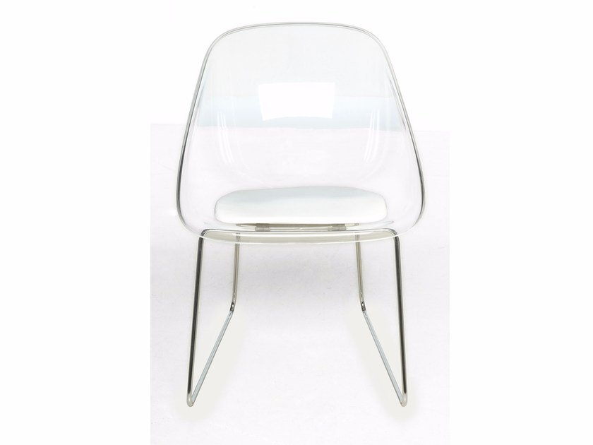Sled base methacrylate chair MAIL | Sled base chair - Paolo Castelli