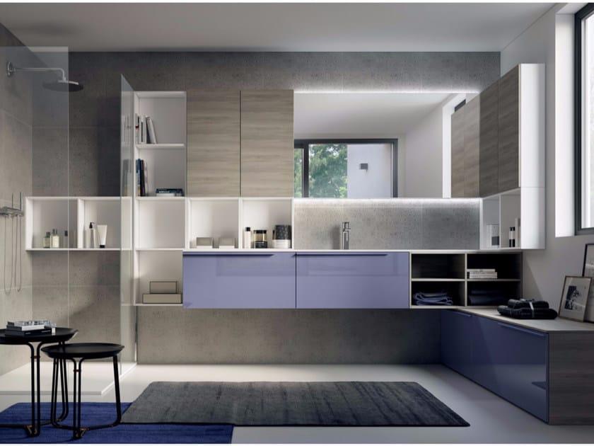 Bathroom cabinet / vanity unit MAKE 09 - LASA IDEA