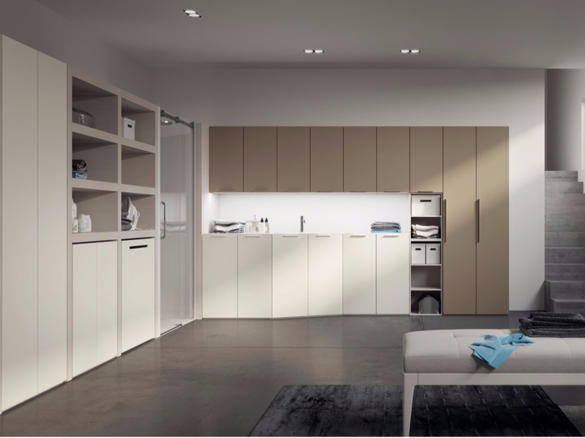 Sectional laundry room cabinet with sink MAKE WASH 01 - LASA IDEA