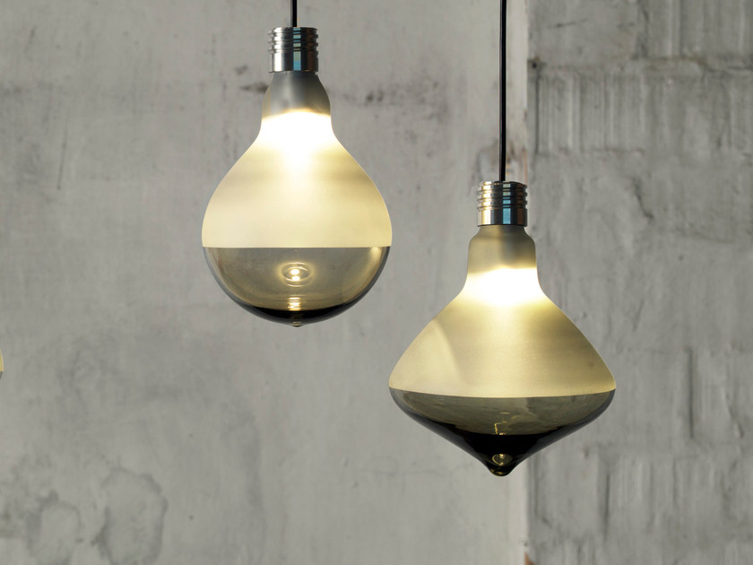 Direct light satin glass pendant lamp MAKEUP | Pendant lamp - Karman