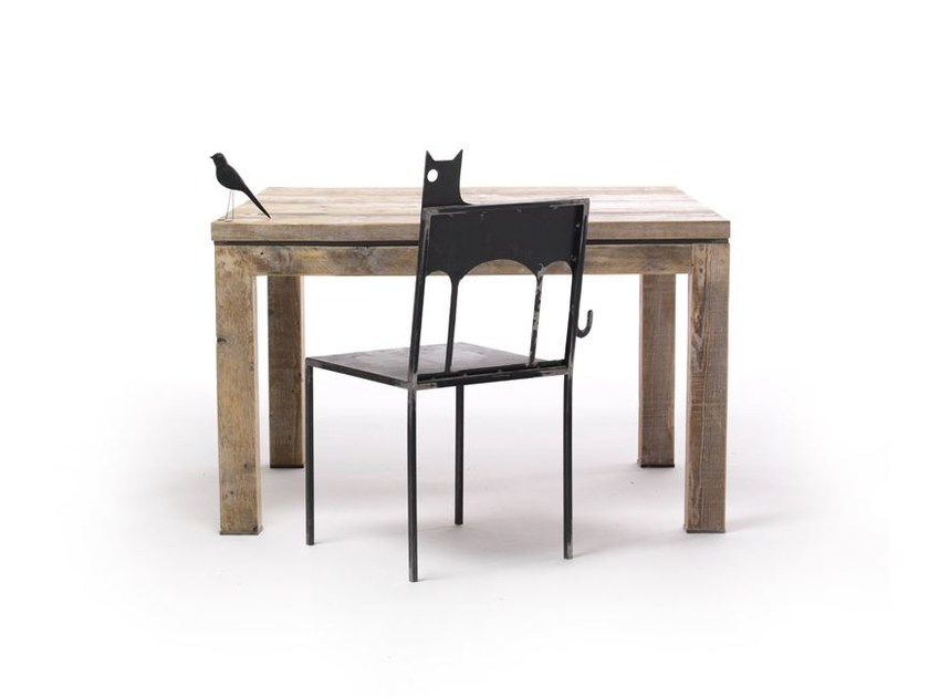 Square spruce table MALICK | Square table - Vontree