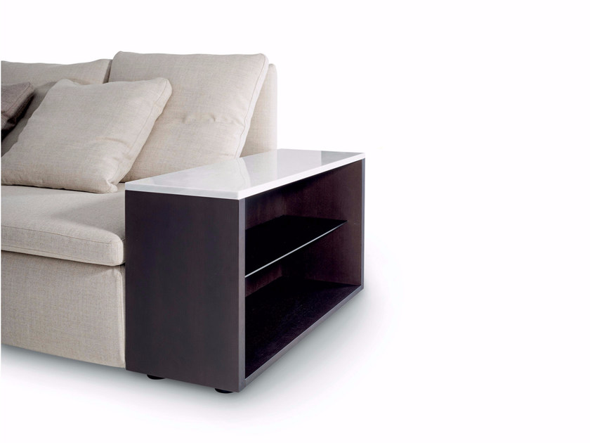 Rectangular coffee table with storage space MANGOLD | Side table - arflex