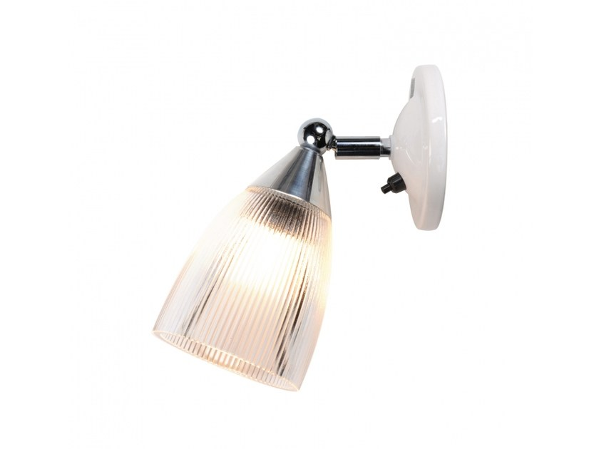 Lampada da parete orientabile in vetro MANN PRISMATIC SWITCHED - Original BTC