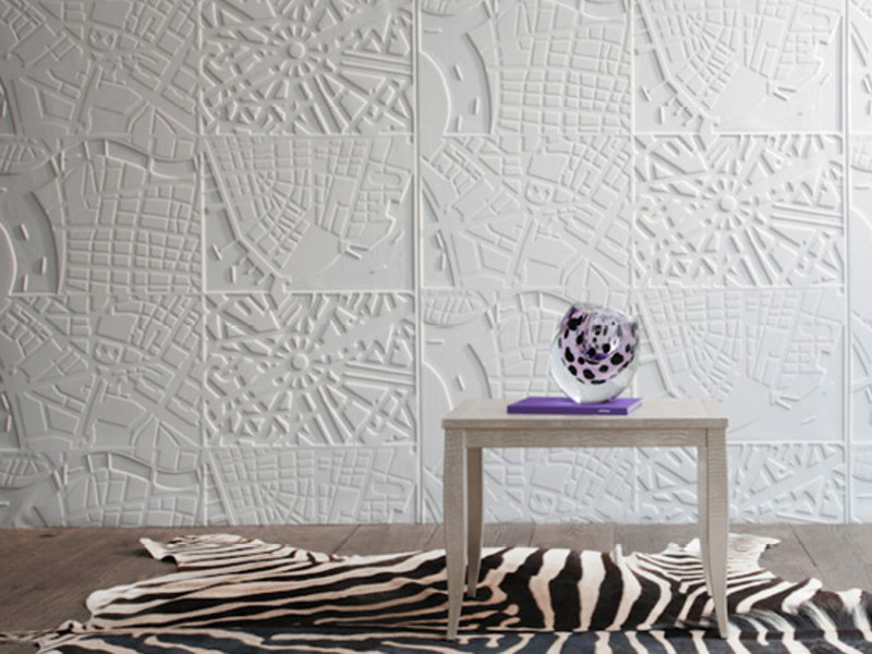 Synthetic material wall tiles MAPS - Élitis