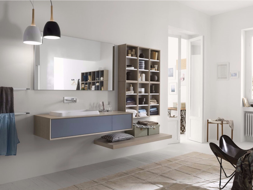 Laminate bathroom cabinet / vanity unit MAQ - Composition 1 by INDA®