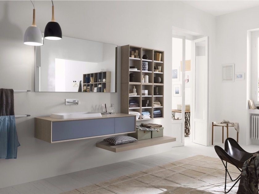 Laminate bathroom cabinet / vanity unit MAQ - Composition 1 - INDA®